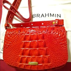 BRAHMIN Lil CANDY APPLE MELBOURNE Red Convertible
